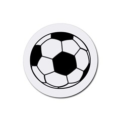 Soccer Lovers Gift Rubber Round Coaster (4 Pack)  by ChezDeesTees