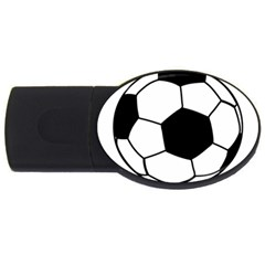 Soccer Lovers Gift Usb Flash Drive Oval (2 Gb) by ChezDeesTees