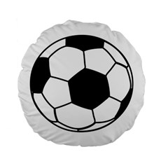 Soccer Lovers Gift Standard 15  Premium Flano Round Cushions by ChezDeesTees