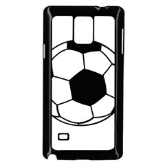 Soccer Lovers Gift Samsung Galaxy Note 4 Case (black) by ChezDeesTees
