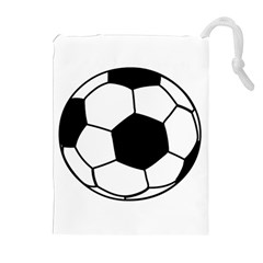 Soccer Lovers Gift Drawstring Pouch (xl) by ChezDeesTees
