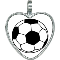 Soccer Lovers Gift Heart Necklace by ChezDeesTees