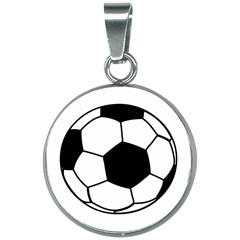 Soccer Lovers Gift 20mm Round Necklace