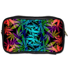 420 Ganja Pattern, Weed Leafs, Marihujana In Colors Toiletries Bag (two Sides)