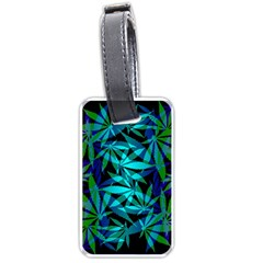 420 Ganja Pattern, Weed Leafs, Marihujana In Colors Luggage Tag (two Sides)