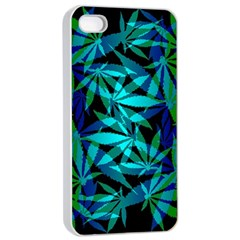 420 Ganja Pattern, Weed Leafs, Marihujana In Colors Iphone 4/4s Seamless Case (white)