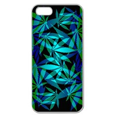 420 Ganja Pattern, Weed Leafs, Marihujana In Colors Apple Seamless Iphone 5 Case (clear)