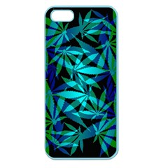 420 Ganja Pattern, Weed Leafs, Marihujana In Colors Apple Seamless Iphone 5 Case (color)