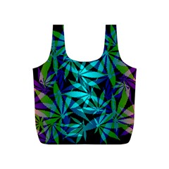 420 Ganja Pattern, Weed Leafs, Marihujana In Colors Full Print Recycle Bag (s)