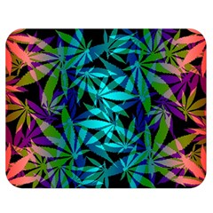 420 Ganja Pattern, Weed Leafs, Marihujana In Colors Double Sided Flano Blanket (medium)