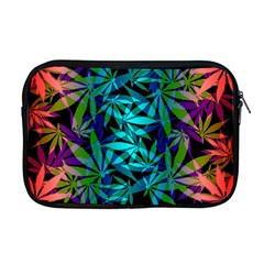 420 Ganja Pattern, Weed Leafs, Marihujana In Colors Apple Macbook Pro 17  Zipper Case