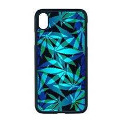 420 Ganja Pattern, Weed Leafs, Marihujana In Colors Iphone Xr Seamless Case (black)