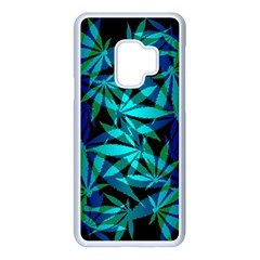 420 Ganja Pattern, Weed Leafs, Marihujana In Colors Samsung Galaxy S9 Seamless Case(white)