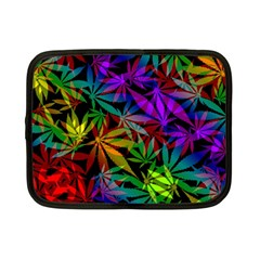 Ganja In Rainbow Colors, Weed Pattern, Marihujana Theme Netbook Case (small)