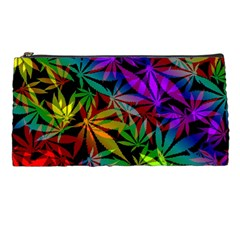 Ganja In Rainbow Colors, Weed Pattern, Marihujana Theme Pencil Case