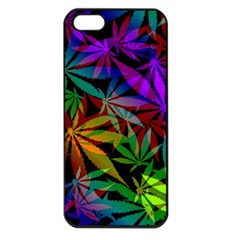 Ganja In Rainbow Colors, Weed Pattern, Marihujana Theme Iphone 5 Seamless Case (black)