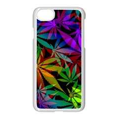 Ganja In Rainbow Colors, Weed Pattern, Marihujana Theme Iphone 7 Seamless Case (white)