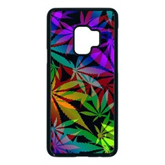 Ganja In Rainbow Colors, Weed Pattern, Marihujana Theme Samsung Galaxy S9 Seamless Case(black)