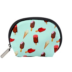 Ice Cream Pattern, Light Blue Background Accessory Pouch (small)