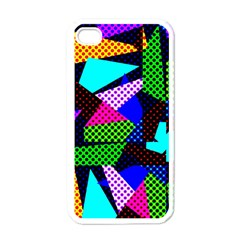 Trippy Blocks, Dotted Geometric Pattern Iphone 4 Case (white)