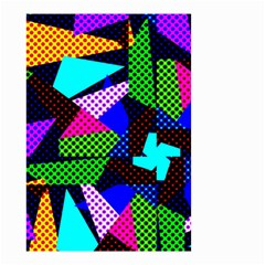 Trippy Blocks, Dotted Geometric Pattern Small Garden Flag (two Sides)