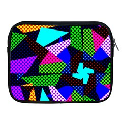 Trippy Blocks, Dotted Geometric Pattern Apple Ipad 2/3/4 Zipper Cases
