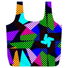 Trippy Blocks, Dotted Geometric Pattern Full Print Recycle Bag (xxxl)