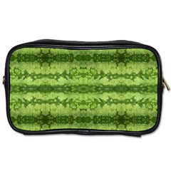 Watermelon Pattern, Fruit Skin In Green Colors Toiletries Bag (two Sides)