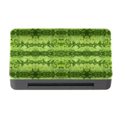 Watermelon Pattern, Fruit Skin In Green Colors Memory Card Reader With Cf