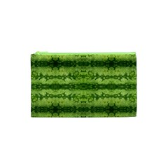 Watermelon Pattern, Fruit Skin In Green Colors Cosmetic Bag (xs)