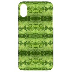 Watermelon Pattern, Fruit Skin In Green Colors Iphone Xr Black Uv Print Case