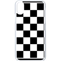 Chess Board Background Design Iphone X Seamless Case (white)
