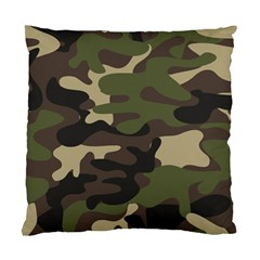 Texture Military Camouflage-repeats Seamless Army Green Hunting Standard Cushion Case (two Sides)