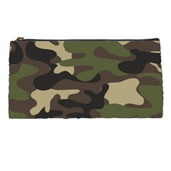 Texture Military Camouflage-repeats Seamless Army Green Hunting Pencil Case