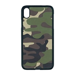 Texture Military Camouflage-repeats Seamless Army Green Hunting Iphone Xr Seamless Case (black) by Vaneshart