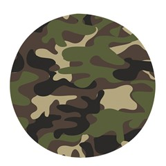 Texture Military Camouflage-repeats Seamless Army Green Hunting Pop Socket (black)