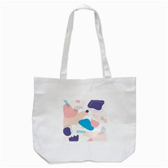 Hand Drawn Abstract Organic Shapes Background Tote Bag (white)