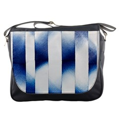 Blue Strips Messenger Bag