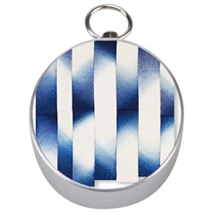 Blue Strips Silver Compasses