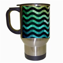 Digital Waves Travel Mugs (white)