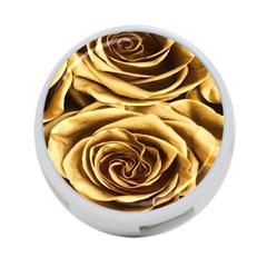 Gold Roses 4-port Usb Hub (one Side) by Sparkle