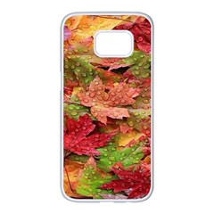 Spring Leafs Samsung Galaxy S7 Edge White Seamless Case
