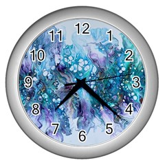 Sea Anemone  Wall Clock (silver) by CKArtCreations