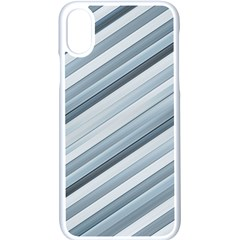 Modern Stripes Print Iphone Xs Seamless Case (white) by dflcprintsclothing
