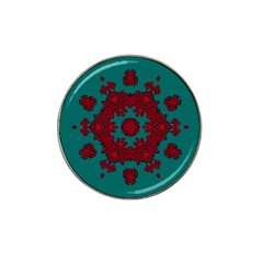 Cherry-blossom Mandala Of Sakura Branches Hat Clip Ball Marker (10 Pack) by pepitasart
