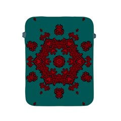 Cherry-blossom Mandala Of Sakura Branches Apple Ipad 2/3/4 Protective Soft Cases by pepitasart