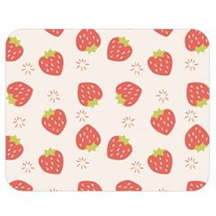 Strawberries-pattern-design Double Sided Flano Blanket (medium)  by Vaneshart