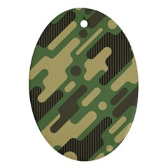 Camouflage-pattern-background Ornament (oval)