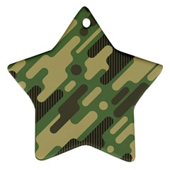 Camouflage-pattern-background Star Ornament (two Sides)