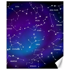 Realistic-night-sky-poster-with-constellations Canvas 8  X 10